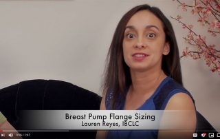 Breast pump flange size - video