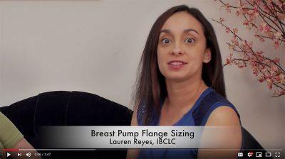 Breast pump flange size - video