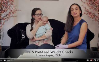 Pre and Post Feed Breastfeeding Weight Checks - video